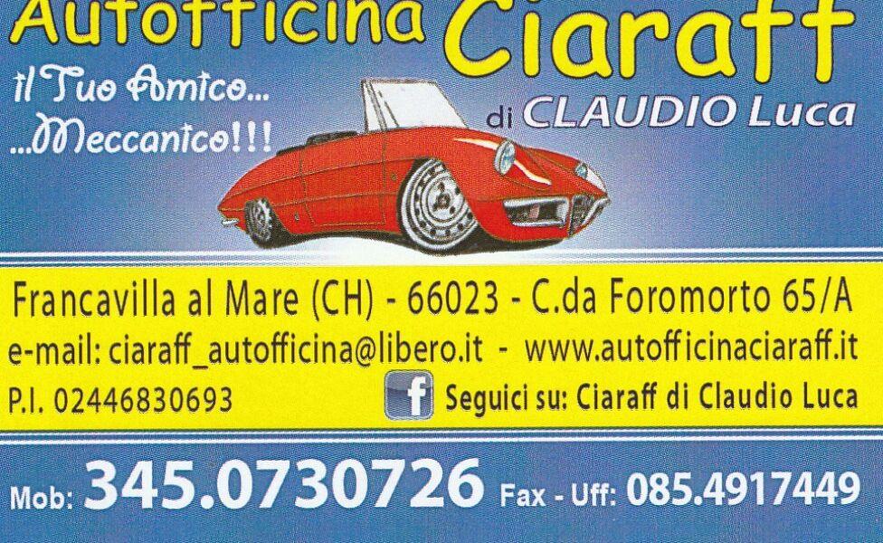 Autofficina Ciaraff francavilla business card logo