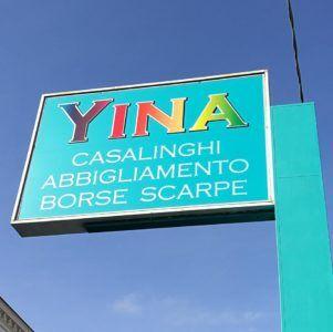 Logo insegna Yina store Francavilla