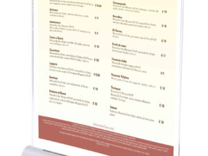 menu e stazione di ricarica usb
