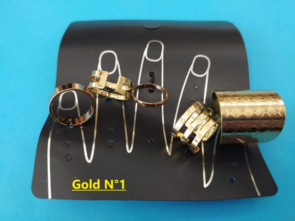 Ring collection Gold 1 - Indiano Bigiotteria