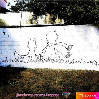 𝕿𝖚𝖙𝖙𝖎 𝖎 𝖌𝖗𝖆𝖓𝖉𝖎 𝖘𝖔𝖓𝖔 𝖘𝖙𝖆𝖙𝖎 𝖇𝖆𝖒𝖇𝖎𝖓𝖎 𝖚𝖓𝖆 𝖛𝖔𝖑𝖙𝖆, 𝖒𝖆 𝖕𝖔𝖈𝖍𝖎 𝖘𝖊 𝖓𝖊 𝖗𝖎𝖈𝖔𝖗𝖉𝖆𝖓𝖔.✨  𝕬𝖓𝖙𝖔𝖓𝖎𝖊 𝖉𝖊 𝕾𝖆𝖎𝖓𝖙-𝕰𝖝𝖚𝖕é𝖗𝖞  Foto di @isiderio_  #repost Enjoy😉 Per tutti i #Lovers di #isiderio #Montesilvano #Pescara e #Abruzzo #art #streetart #murales #fiabe #piccoloprincipe  #alicenelpaesedellemeraviglie  ❤️ #welovesocial #welovepescara❤️ Segui e tagga @welovepescara #welovelife #weloveabruzzo #weloveitaly #weloveourfans ------------------------------------------ #weloveshopping #pescarashopping #ecommercePescara la rete dei tuoi #negozipreferiti #newscover #pubblicitàa360° #lapubblicitànonèunoptional